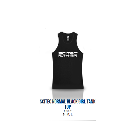 Scitec Normal Black Tank Top (Girl)