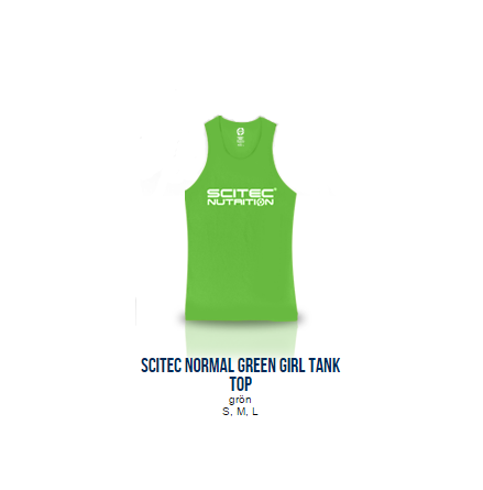 Scitec Normal Green Tank Top (Girl)