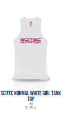 Scitec Normal White Tank Top (Girl)