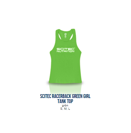 Scitec Racerback Green Tank Top (Girl)