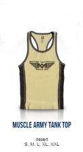 Muscle Army Tank Top (Desert)
