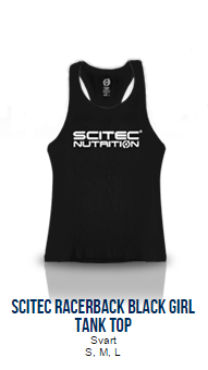 Scitec Racerback Black Tank Top (Girl)